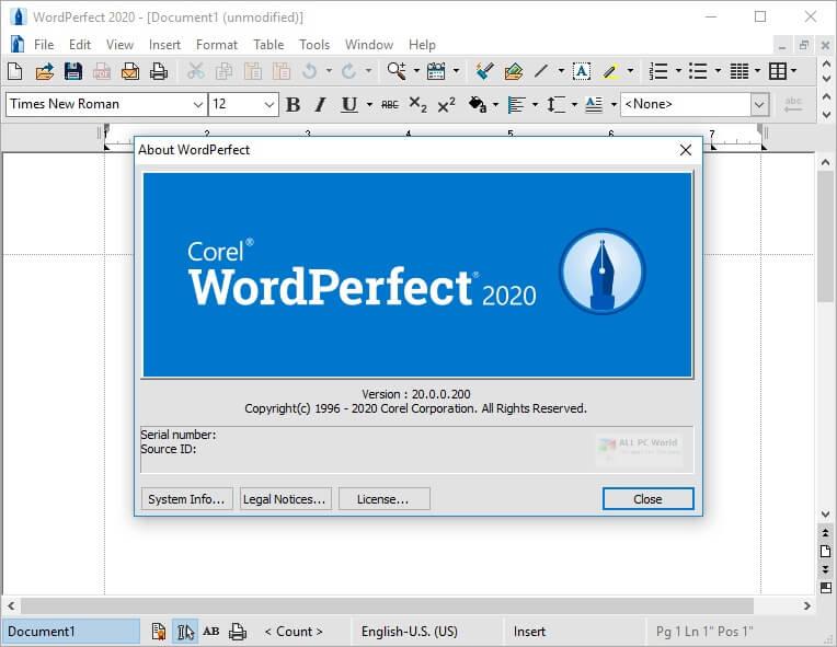 Corel WordPerfect Office Crack 1